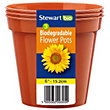 Flower Pots in Orange - 15cm (Pack of 3)