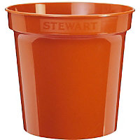 Flower Pot  in Orange - 17.8cm