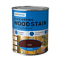 Homebase Quick Drying Woodstain Oak - 750ml