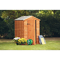 Forest Overlap Golden Brown Shed - 4ft x 6ft