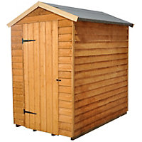 Forest Overlap Golden Brown Shed - 6ft x 4ft