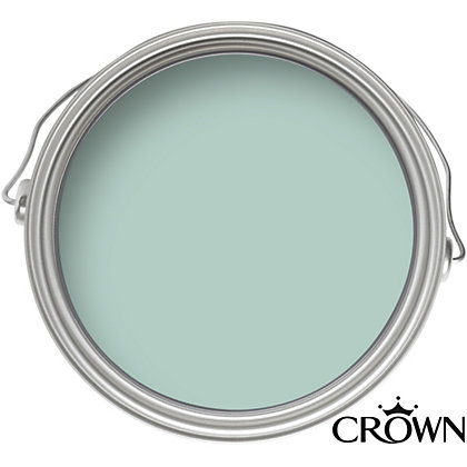 Crown Kitchen And Bathroom Breatheasy Soft Duck Egg Mid Sheen Paint 2 5L