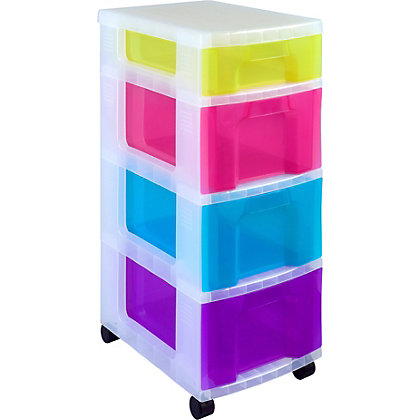 Image for Really Useful - Mobile Storage Tower With 4 Drawers from StoreName