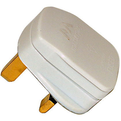 Image for Homebase 5A Fused Plug - White from StoreName