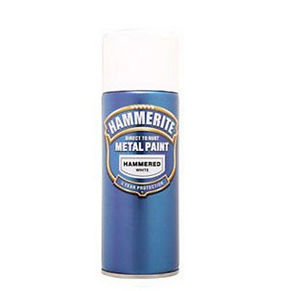 Image for Hammerite White - Hammered Exterior Aerosol Paint - 400ml from StoreName