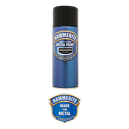 Image for Hammerite Black - Hammered Exterior Aerosol Paint - 400ml from StoreName