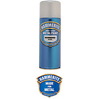 Hammerite Silver Grey - Hammered Exterior Aerosol Paint - 400ml