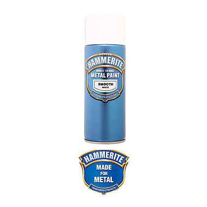 Image for Hammerite White - Exterior Smooth Aerosol Paint - 400ml from StoreName