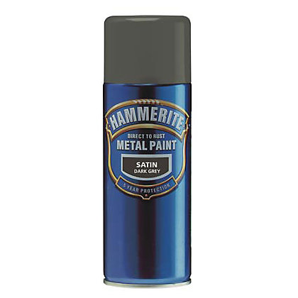Hammerite black aerosol direct to rust metal paint 400ml Black metal spray paint