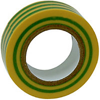 Homebase Electrical Insulation Tape - Green/Yellow - 10m