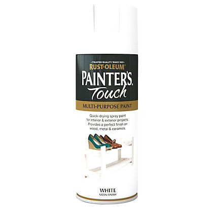 Image for Rust-Oleum Satin Spray Paint - White - 400ml from StoreName