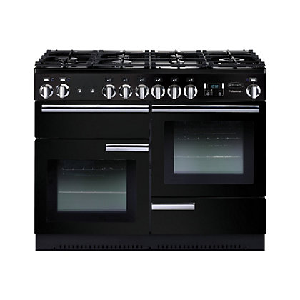 Image for Rangemaster Professional Plus 110cm Dual Fuel Range Cooker - Black from StoreName