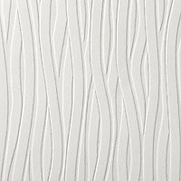 Superfresco Wavy Lines Wallpaper - White