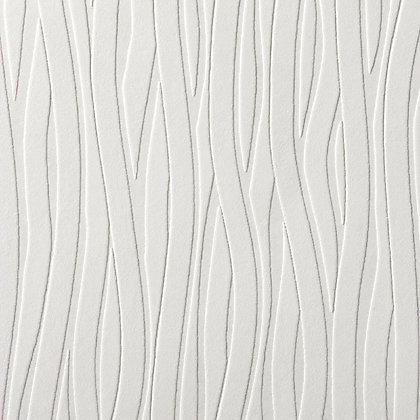 Image for Superfresco Wavy Lines Wallpaper - White from StoreName