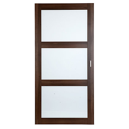 Image for Schreiber Shaker Sliding Door - Walnut Glass from StoreName