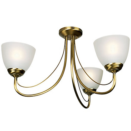 Image for Rome 3 Light Fitting - Antique Brass from StoreName