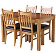 Hygena Cucina Extending Dining Table And 4 Chairs - Oak