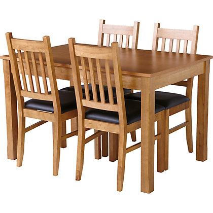 Image for Hygena Cucina Extending Dining Table And 4 Chairs - Oak from StoreName