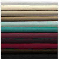 Percale Fitted Sheet - Duck Egg - Double