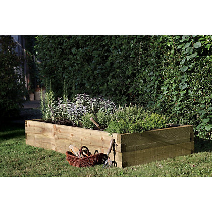 Image for Forest Caledonian Wooden Raised Bed 180 x 90cm from StoreName
