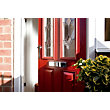 London 2 Narrow Lite Composite Door Set - Red Right Hand Hung Composite Door - 920mm Wide 2085mm High