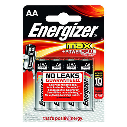 Image for Energizer Max AA Batteries - 4 Pack from StoreName