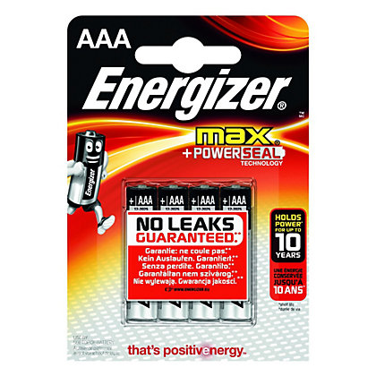 Image for Energizer Max AAA Batteries - 4 Pack from StoreName