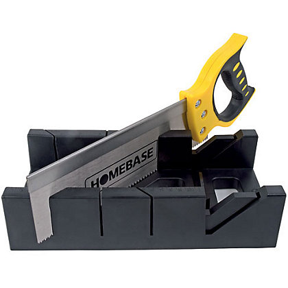 Image for Plastic Mitre Box with Saw - 12in from StoreName