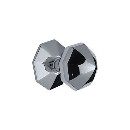 Image for Victorian Centre Door Knob - Chrome from StoreName