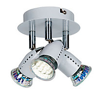 Hardy Mini Plate Spotlight - White - 3 Light