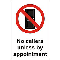 No Callers Unless by Appointment Sign - 150mm