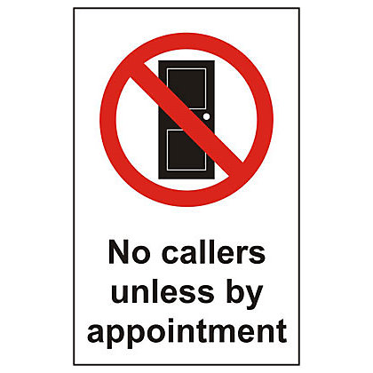 Image for No Callers Unless by Appointment Sign - 150mm from StoreName