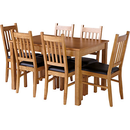 Image for Hygena Cucina Extending Dining Table and 6 Chairs - Oak from StoreName