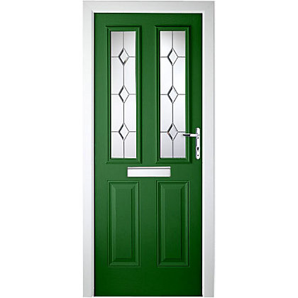 Image for London 2 Narrow Lite Green Left Hand Hung Composite Door - 920mm Wide from StoreName