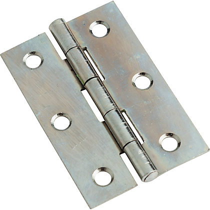 Image for Zinc Plate Interior B Hinge - 75mm - 6 Pack from StoreName