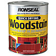 Ronseal Quick Drying Woodstain Satin Deep Mahogany - 750ml