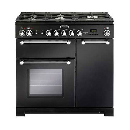 Image for Rangemaster Kitchener 81420 90cm Dual Fuel Cooker - Black from StoreName