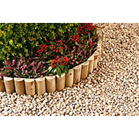 Half Round Log Softwood  Edging & Border Roll - 1.8 x 15cm