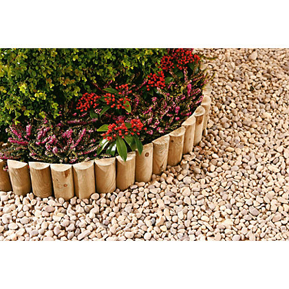 Image for Half Round Log Softwood  Edging & Border Roll - 1.8 x 15cm from StoreName