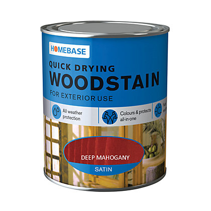 Image for Homebase Quick Drying Woodstain Deep Mahogany - 2.5L from StoreName