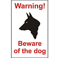 Warning Beware Of The Dog House Sign - 150mm