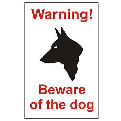 Image for Warning Beware Of The Dog House Sign - 150mm from StoreName