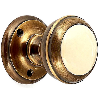 Image for Ceramic Mortice Knob - Cream from StoreName