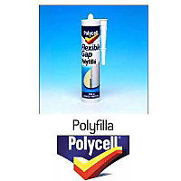 Polycell Kitchen & Bathroom Flexible Gap Polyfilla Tube - 330g