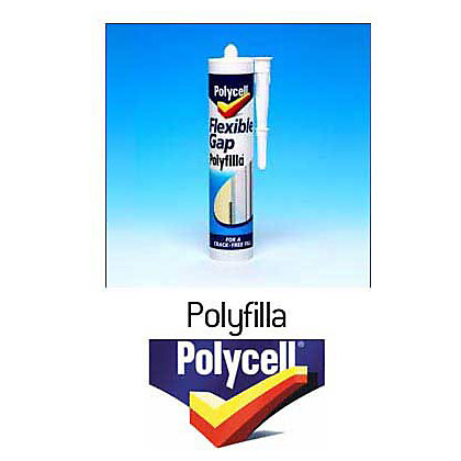 Image for Polycell Kitchen & Bathroom Flexible Gap Polyfilla Tube - 330g from StoreName