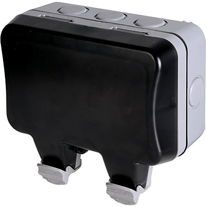 Image for BG Twin 13A Weatherproof Switched Socket - IP66 Rated from StoreName