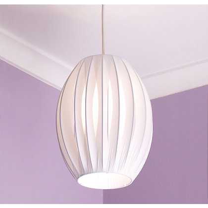 Image for Retro Ribbon Shade - White - 20cm from StoreName