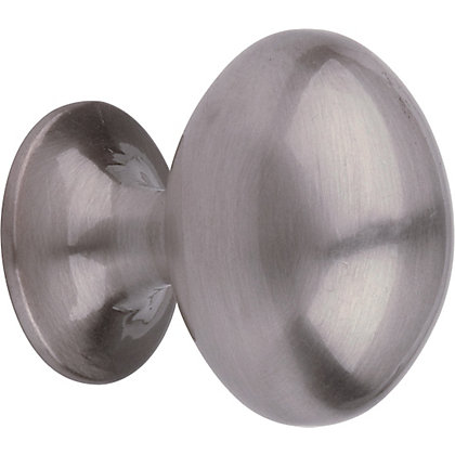 Image for Oval Door Knob - Brushed Satin Nickel from StoreName