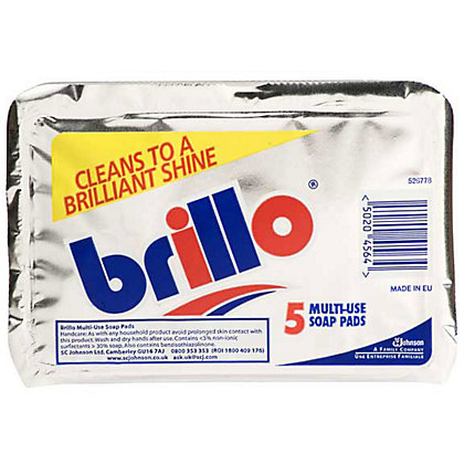 Image for Brillo Pads - 5 Pack from StoreName