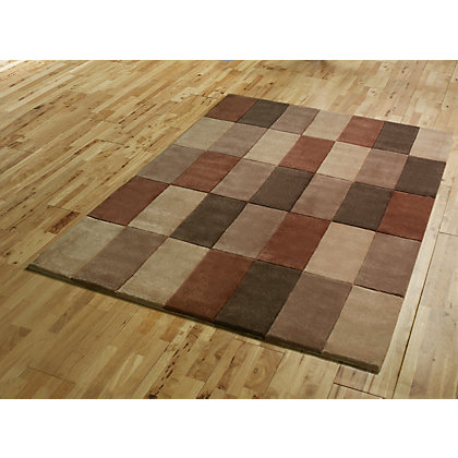 Image for Cube Mix Rug - Brown - 120 x 170cm from StoreName